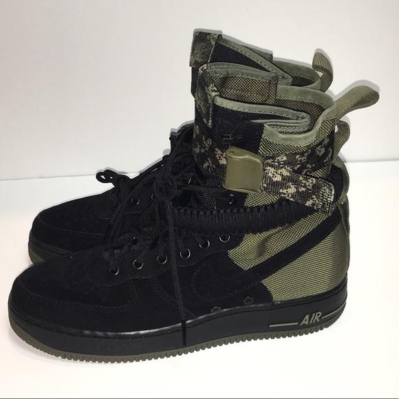 Nwt Black 1 Military Air Nike Force Sf High Camo Style 4R35AjcLq